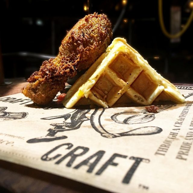 Classic chicken and waffles from craftrestaurant  is this love?!hellip
