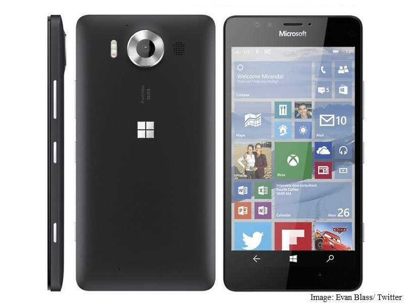 A leaked image of the rumoured Lumia 950