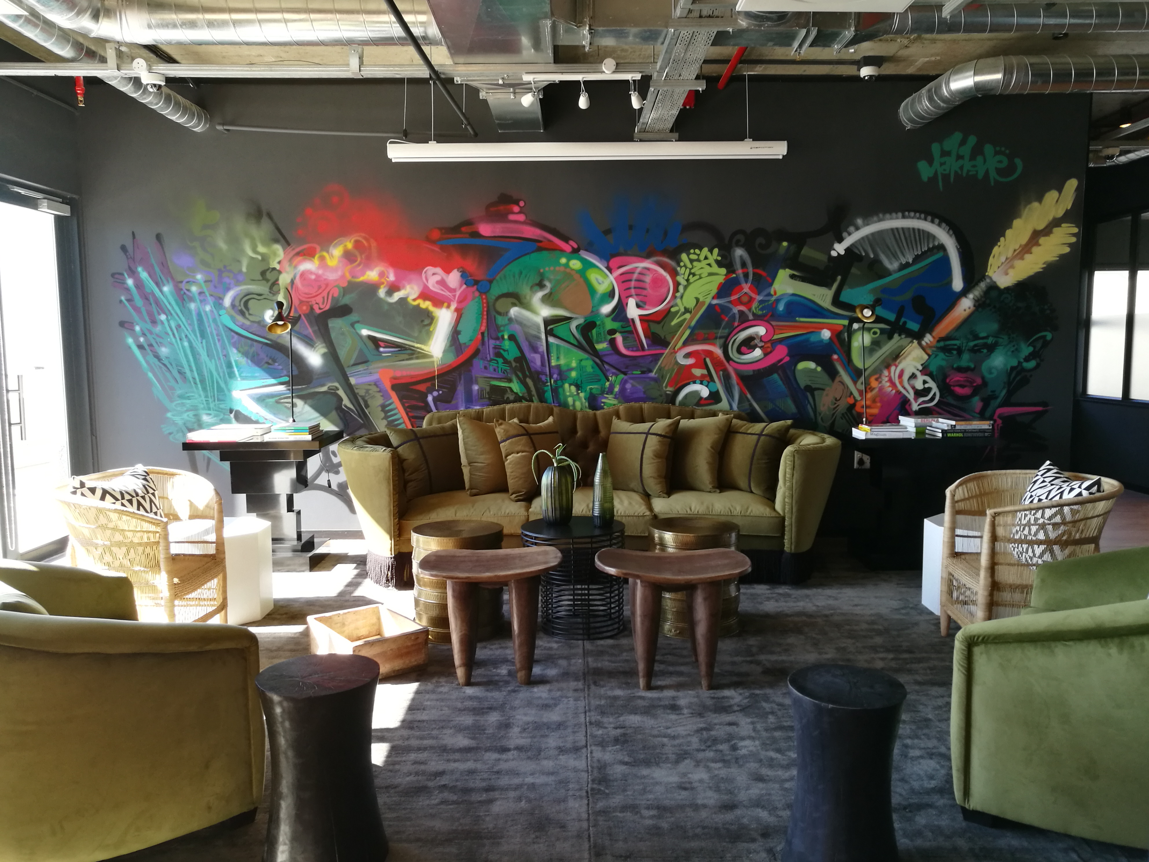 The lounge area at Work & Co