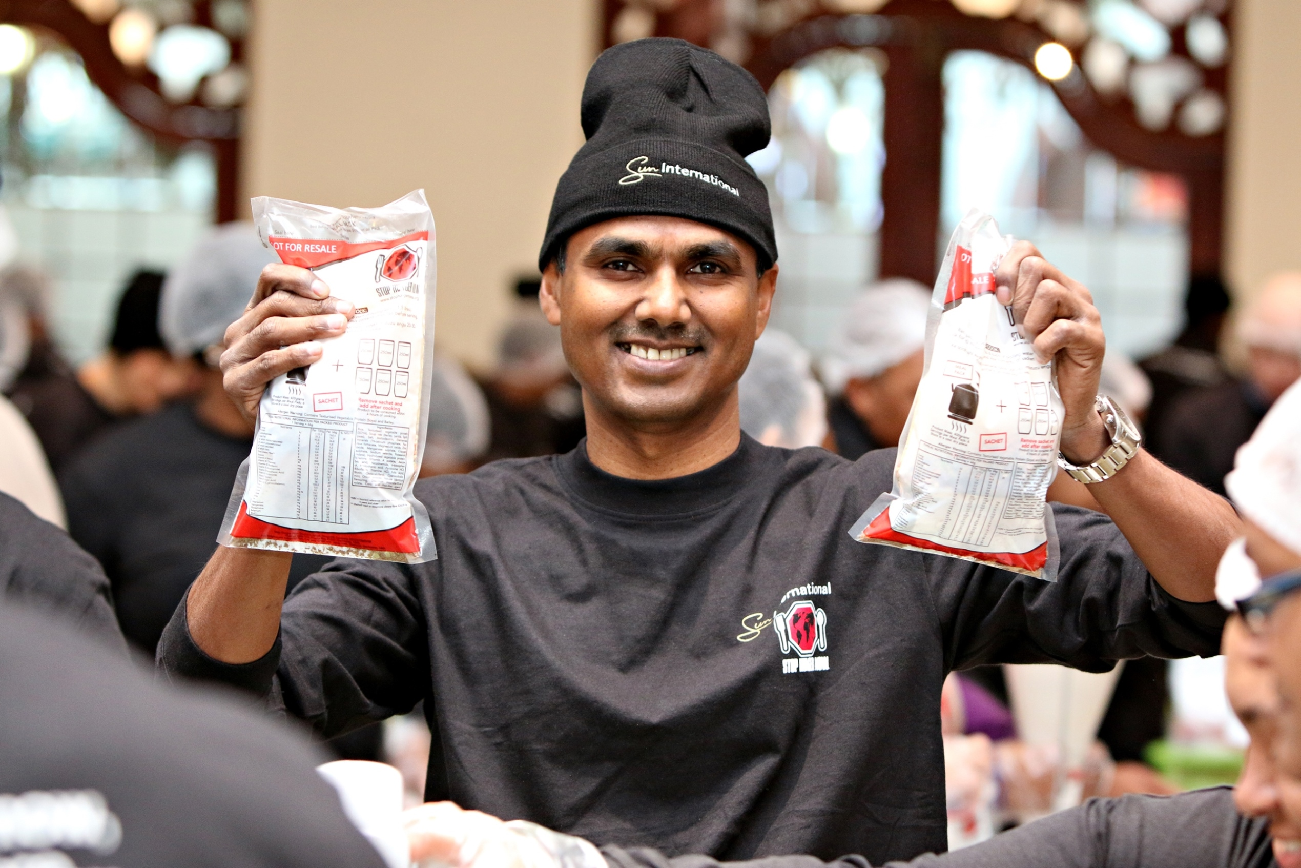 2015 Stop Hunger Now campaign with Mervyn Naidoo, GM at Sun International's GrandWest Casino
