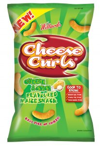 Cheese Curls Cheese and Onion 1