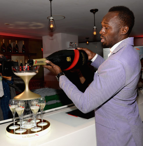 attend G.H. Mumm and Usain Bolt's Toast to the Kentucky Derby on May 6, 2017 in New York City.