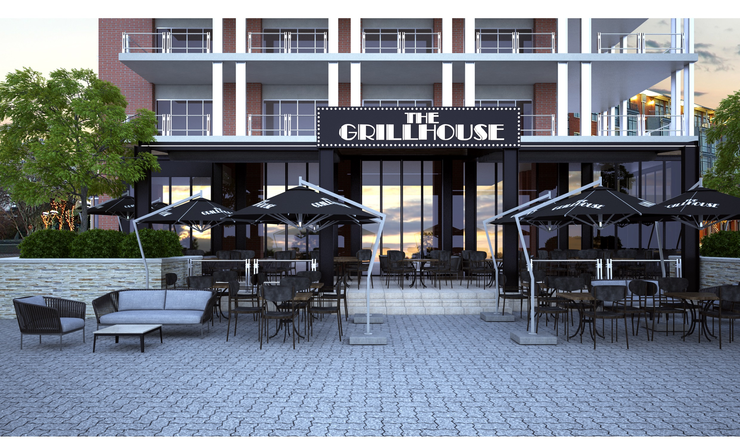 Melrose Arch The Grillhouse artist's impression